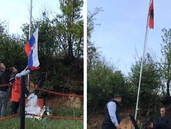 VIDEO/ Provokim i rëndë nga serbët mbi varrin e dëshmorit të kombit në Konçul